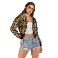 basic Leopard Print Casual Cotton Loose Bohemian Jackets Coats