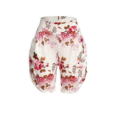 Casual Floral Printed Pocket Boho Bohemian Shorts