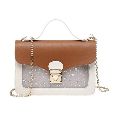 Mini Small Square Pack Shoulder Star Sequin Handbags