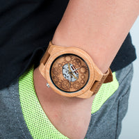 Bamboo Luminous Hands Wood Watches