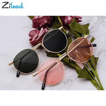 Metal Frame Retro Yellow Red Sunglasses