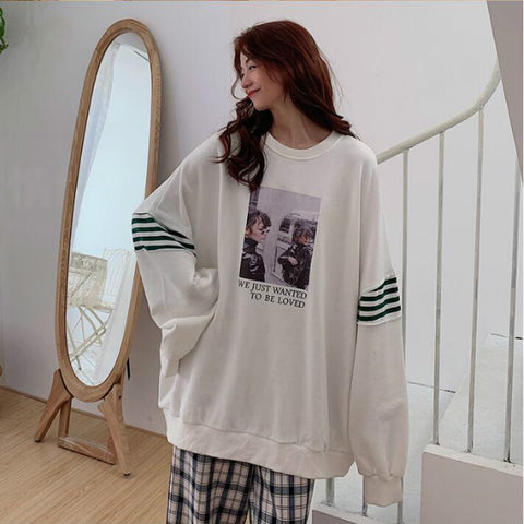 Thin Loose Student Simple Chic Casual Sweatshirts