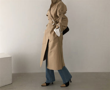 Loose Stand Collar Wind Coats