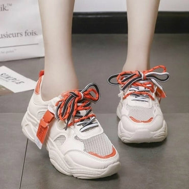 Comfy Breathable Mesh Trainers Chunky Platform Sneakers Shoes