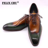 Genuine Calf Leather Classic Oxford Shoes