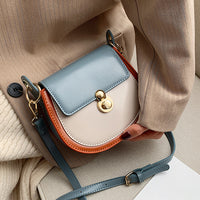 PU Leather Contrast Color Handbags