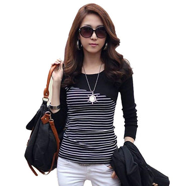Striped Long Sleeve Tops T-Shirts