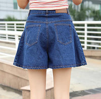 Loose High Waist Broad-Legged Casual Short Denim