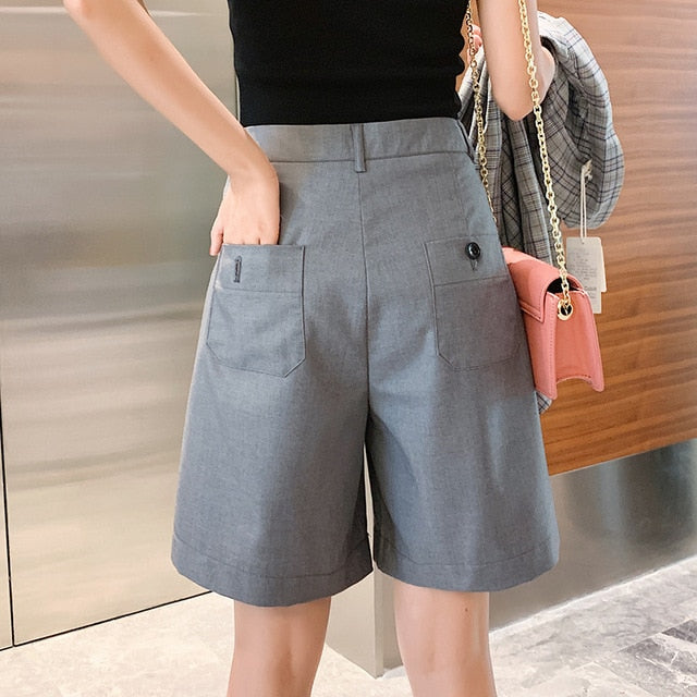 Wide Leg Straight Loose Shorts