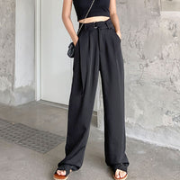 Sashes High Waist Loose Wide Leg Pants