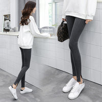 cotton thread vertical push up leggings