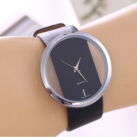 Leather Luxury Antique Stylish Round Dress Watch