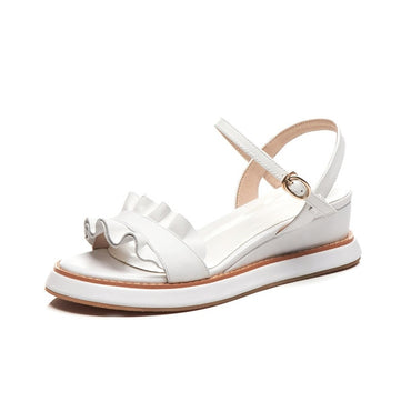 genuine leather comfortable casual buckle Sandals