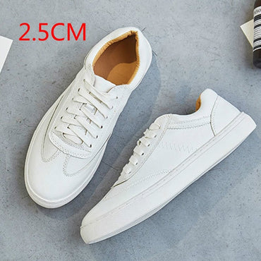 White Split Leather Chunky Sneakers