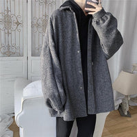 Vintage Solid High Quality Soft Loose Leisure Chic Jackets