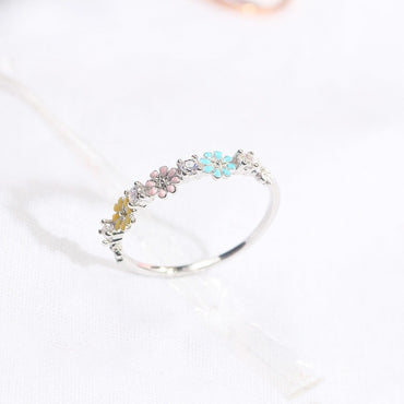 Five-color Daisy Flowers Ring