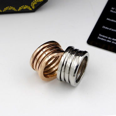 Luxury Brand Stainless Steel Rings
