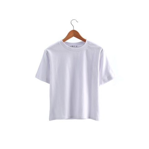 Vintage cotton women O Neck Short Sleeve T-shirts