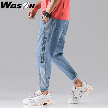 Loose Washed Cotton Casual Light Blue Cowboy Jeans