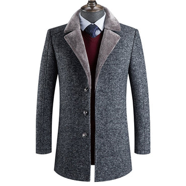 high quality wool thick trench coat