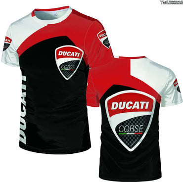 digital printed Ducati car logo T Shirt