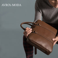 high quality genuine leather business handbags