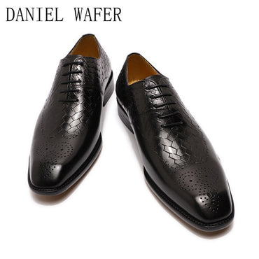 Loafers Luxury Genuine Leather Lace Up Oxford Shoes