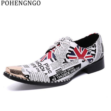 English Style Genuine Leather  pointed Oxford Shoes