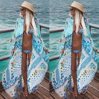 Chiffon Cardigan Long Cover Up Loose Boho Bohemian Kimonos