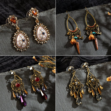 Vintage Ethnic Dangle Hanging Suspension Earrings Boho Bohemian Accessories