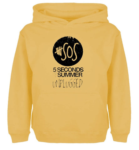 Unisex Long sleeves 5SOS 5 Seconds of Summer Unplugged Casual Hoodies