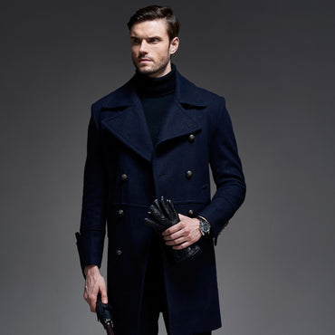 Long Wool Double Breasted Coat