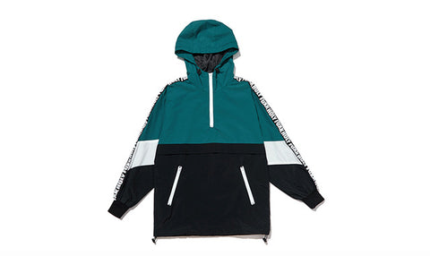 Loose Windbreaker Youth Couple Contrast Color Hoodie