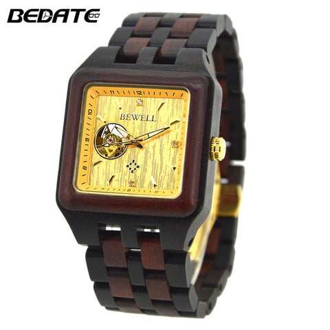 Luxury Square Wood Watches