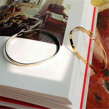 Minimalist contracted fine gold beautiful Bracelets Bangles