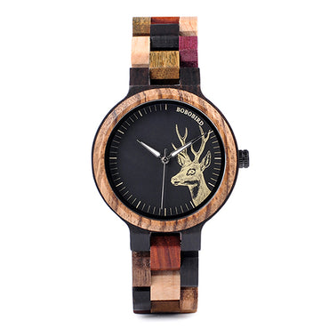 Casual Natural Mixed Colorful Wood Watches