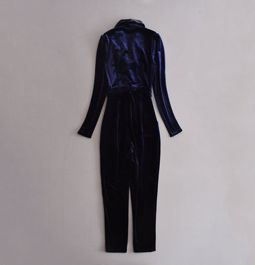 Star  velvet couplet jumpsuit