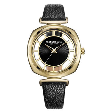 Gold Black Leather Buckle Quartz Waterproof Luxury Brand Watch