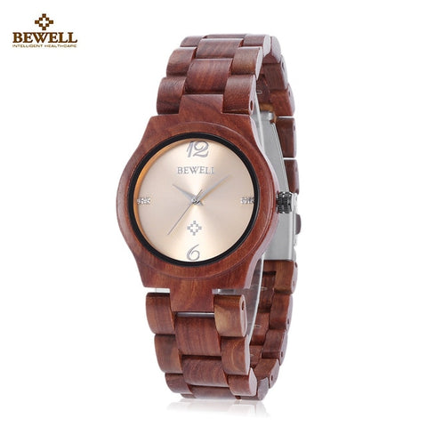 Dial Natural Butterfly Buckle Round Wood Watches