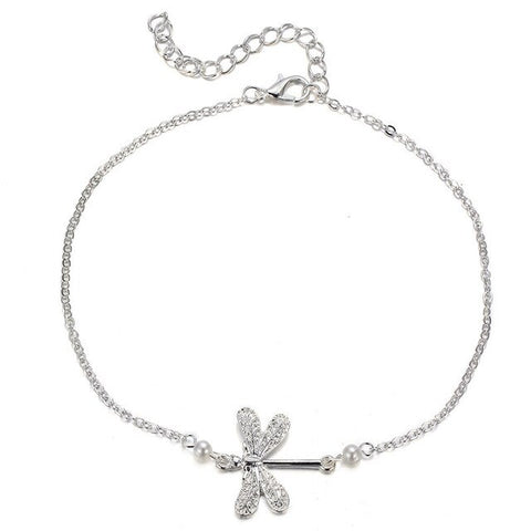 Dragonfly Anklets Animal Vintage Silver Color Foot Boho Bohemian Accessories