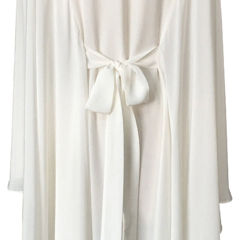long style cloak silk White Dresses