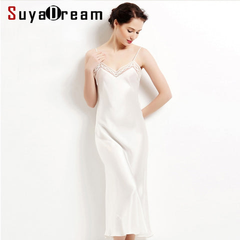 pure silk long Sexy sleepwear