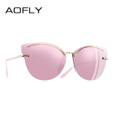 Cat Eye Mirror Reflective Sunglasses
