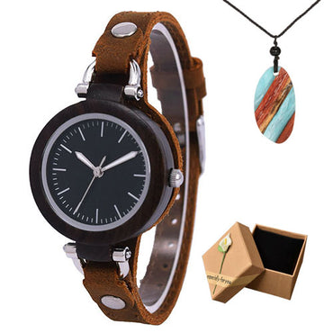 Luxury Unique Bamboo White Bracelets Soft Leather Wood Watches