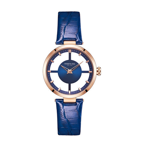 See through Leather Buckle Blue Waterproof Original Luxury Watches