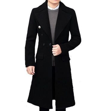 Long Knee Extension Stand Collar Coat