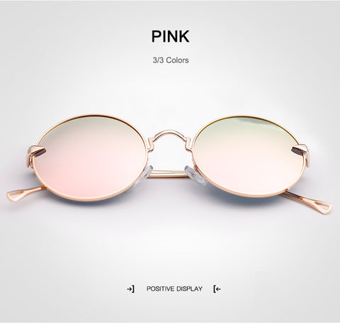 Polarized Blue Pink Silver UV400 Mirror Lens Sunglasses