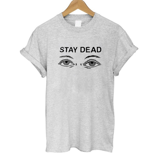 eye stay dead print T shirt