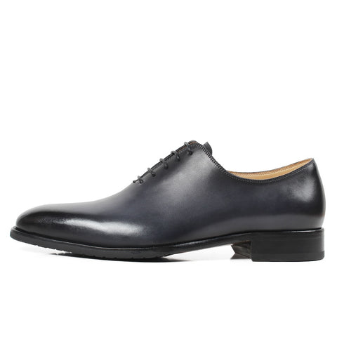 Solid Gray Wedding Oxford Shoes