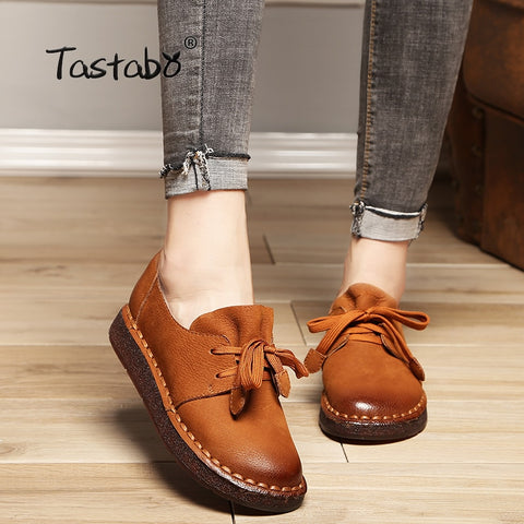 Lace up Loafers Casual Flat Shoe